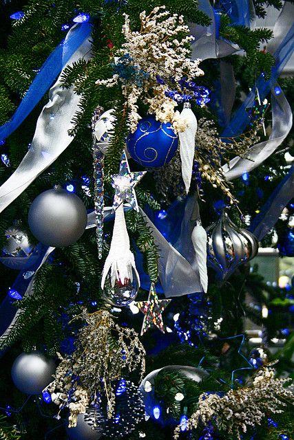 Blue and Silver Blue christmas, Christmas tree and Christmas decor