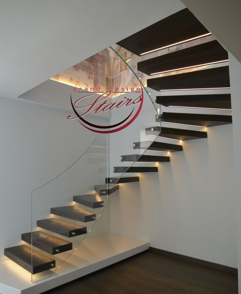 Suspended Style 32 Floating Staircase Ideas For The: Cantilever Stairs Suspended Staircases Or Floating