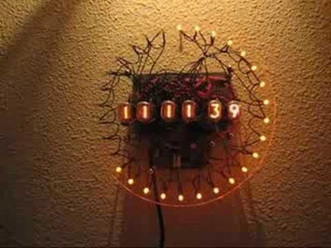 Nixie Tube Wall Clock Pls Mute The Gaarbage Audio On Video With
