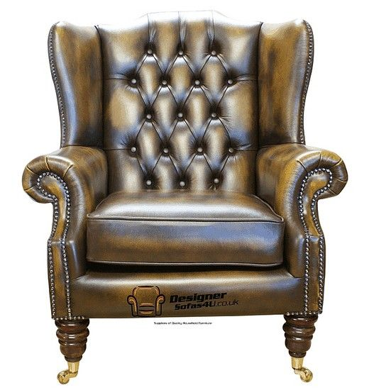 Chesterfield Dorchester High Back Wing Chair Uk Manufactured Antique