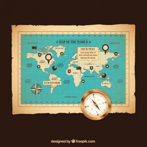 Retro world map free vector httpfreepikfree vectorretro retro world map free vector httpfreepikfree vectorretro world map794802m gumiabroncs Image collections
