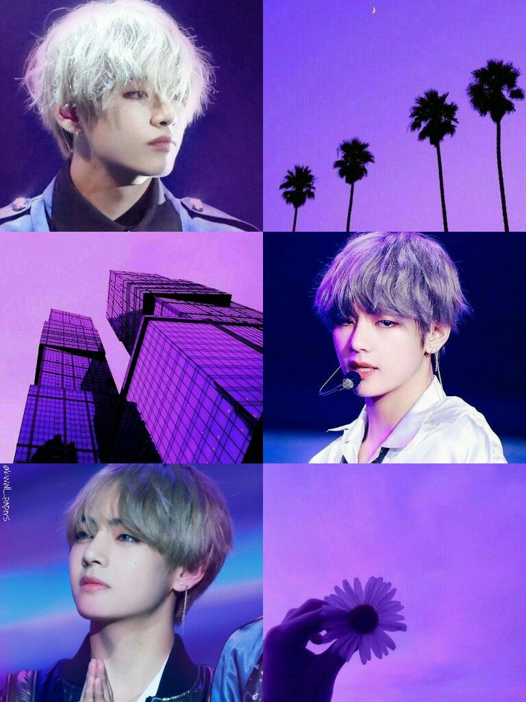 Bts Bangtan Kim Taehyung Purple Aesthetic Collage Wallpaper By Kwall Papers Bts Wallpaper Purple Wallpaper Purple Aesthetic