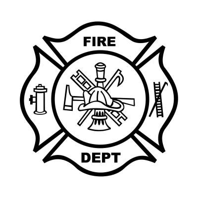 maltese-cross-firefighter-axe-ladder-and-firefighter-hat-coloring ... - Firefighter Badges Coloring Pages