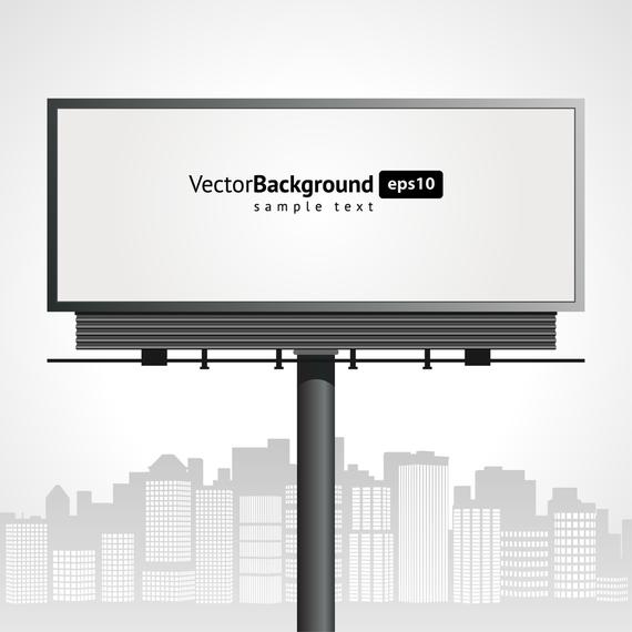 Urban Blank Billboard Ad Spon Sponsored Billboard Blank Urban Graphic Illustration Billboard Background Design