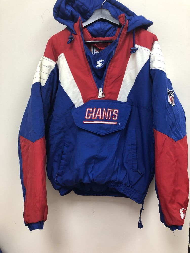 22a565aeef7 Vintage Starter NFL New York Giants Puffer Jacket Size M Free Shipping