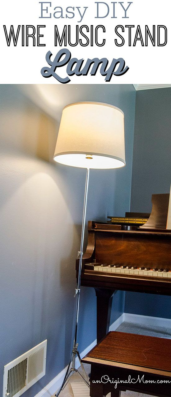 DIY Wire Music Stand Lamp #LEDPower   Music stand, Retro