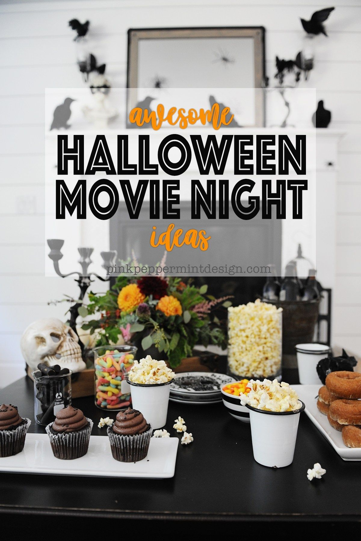 Cute DIY Halloween Movie Night Party Ideas Halloween