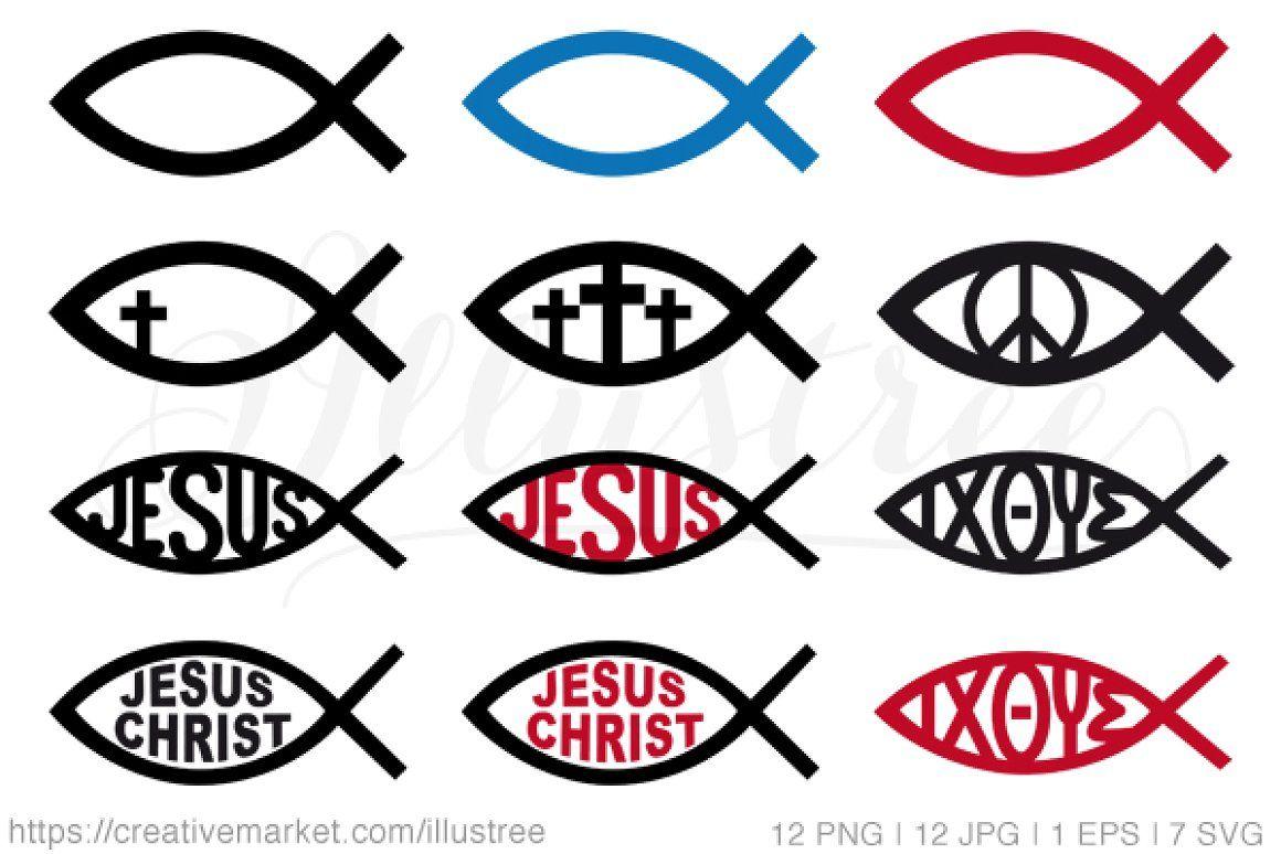 Jesus Christ symbols, vector set Icons 신앙, 카톨릭, 종교
