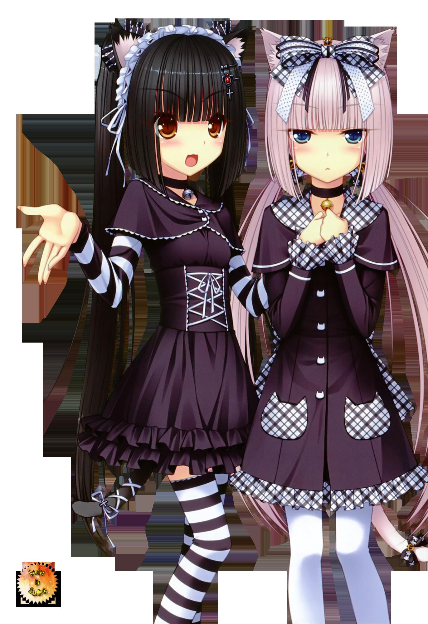 Chocolate and Vanilla Anime Ecchi | ... - Renders Sayori neko ...