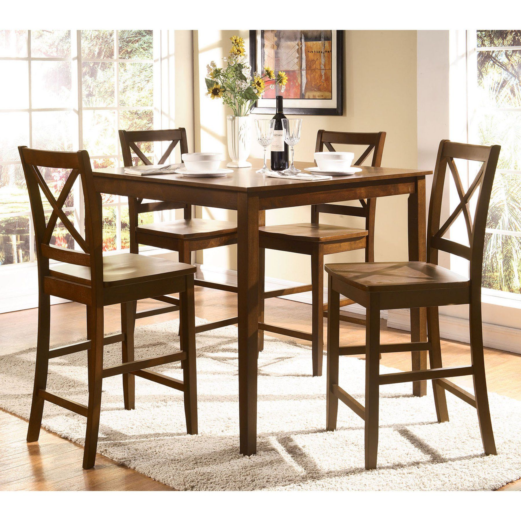 Acme Furniture Martha 5 Piece Counter Height Dining Table Set Interesting Acme Dining Room Set Decorating Inspiration