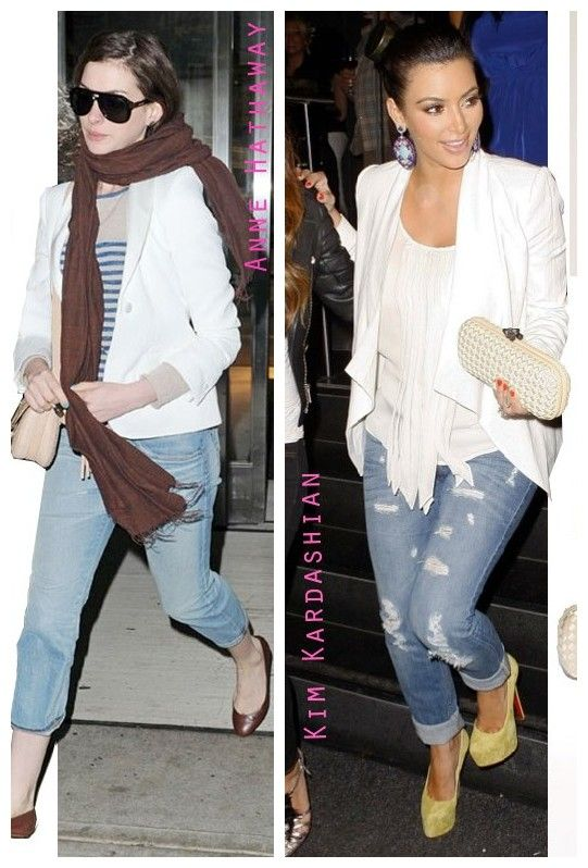 outfits to wear with white linen pants | ... -and-Kim-Kardashian ...