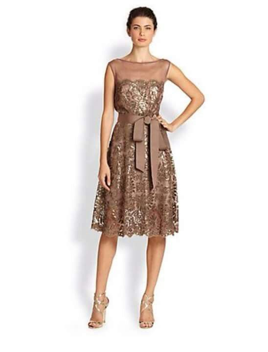 Tadashi Shoji Belted Sequin Dress This Would Be A Cute Bridesmaid