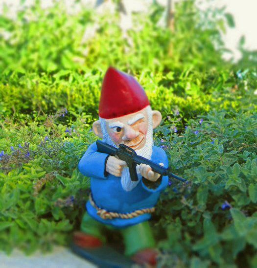 Omg, I Want These To Go With The Zombie Gnomes! Combat Garden Gnome   When  The Garden Gnome Zombie Apocalypse Happens, This Is The Guy You Want  Covering You ...