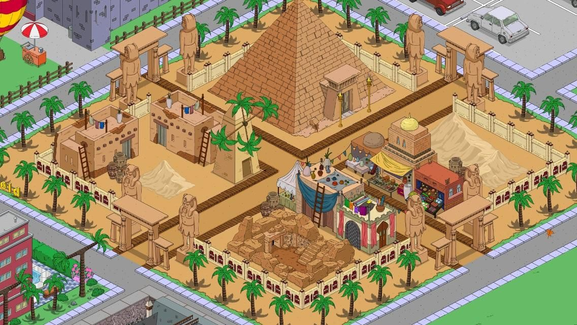 Tapped Out Walkthrough 2020 Halloween Egyptian Area : tappedout | Springfield jeu, Les simpson, Jeux