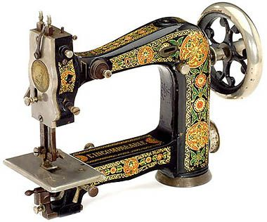 """We are not too familiar with the French-sounding """"L'Incomparable"""". However, we believe this finely decorated machine follows a patent by Willhelm von Pittlers."""