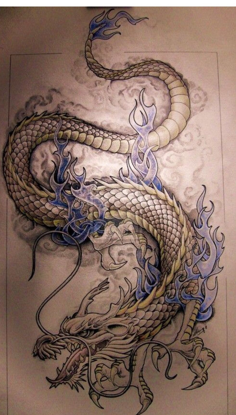 Dragon tattoo patterns by Rena Rivera Ryan on Dragons