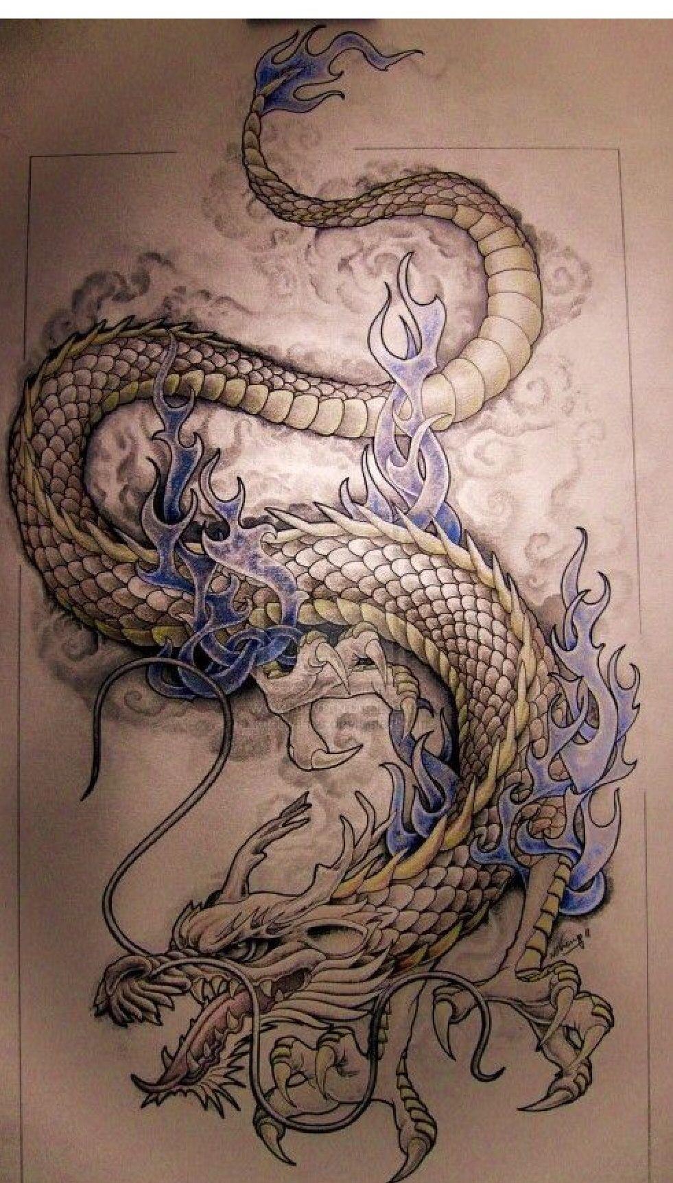 Dragon tattoo patterns by Rena Rivera Ryan on Dragons