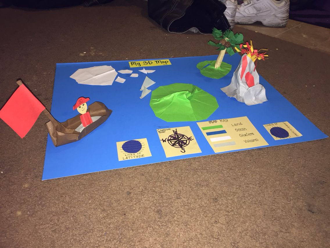 3D Map! Easy peasy! Great activity to introduce maps to the students!