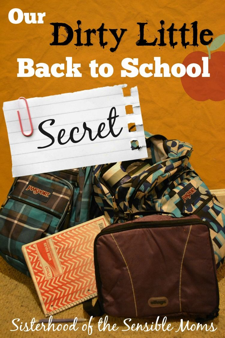 """Are you jumping for joy for Back to School? Find out """"Our Dirty Little Back To School Secret"""" - Sisterhood of the Sensible Moms"""