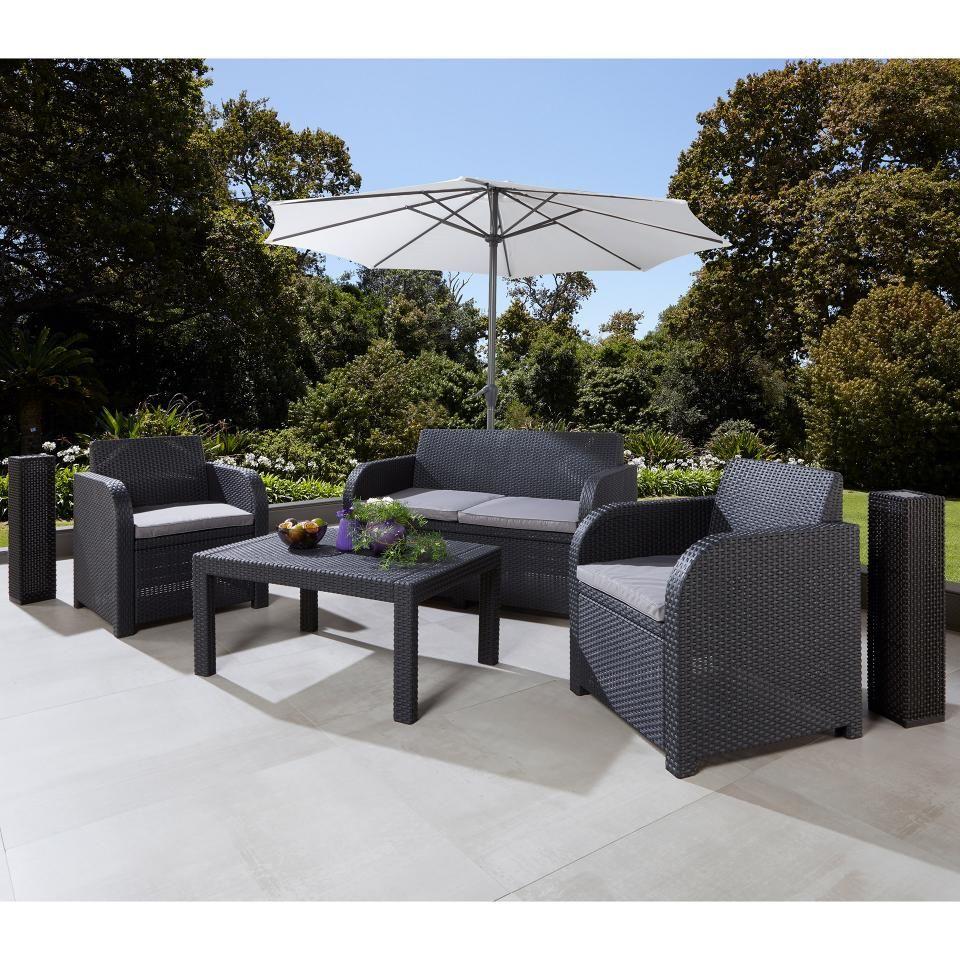 Sofa Set San Lorenzo Fur Garten Preiswert Danisches Bettenlager Sitzkissen Grau Lounge Mobel Modernes Sofa