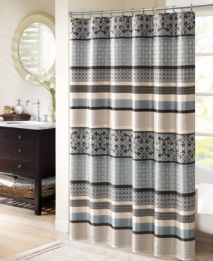 Madison Park Princeton 72 Striped Shower Curtains Curtains Home Essence