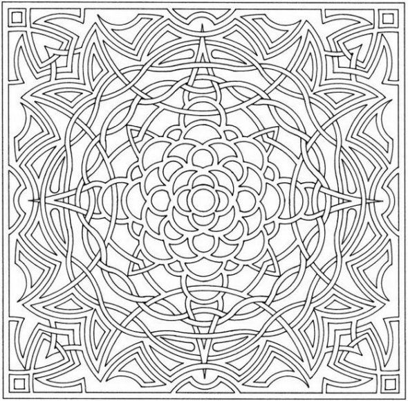 Optical Illusion Colouring Pages Geometric Coloring Pages Abstract Coloring Pages Celtic Coloring