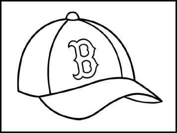 Red Sox Craft Boston Red Sox Logo Coloring Pages Baseball Coloring Pages