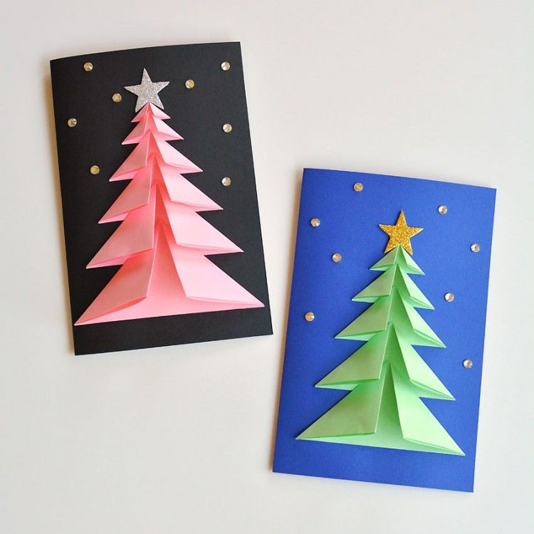 3d Paper Christmas Tree Card Christmas Tree Cards 3d Christmas Tree Card Christmas Card Crafts