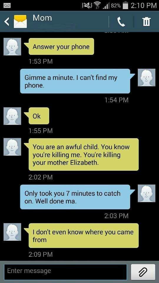 New Funny Mom  Hilarious text Funny mom text Elizabeth 11