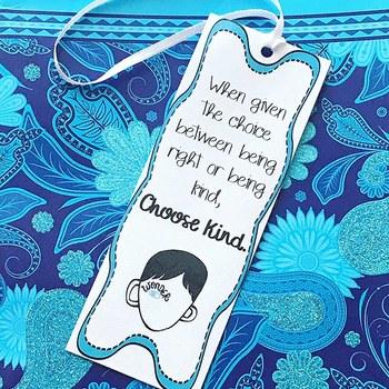 Wonder Bookmarks Editable Bookmarks Different Quotes Novels