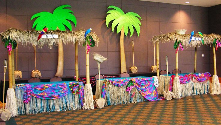 Caribbean Theme Party Ideas On Pinterest: Beach Office Christmas Decorating Ideas