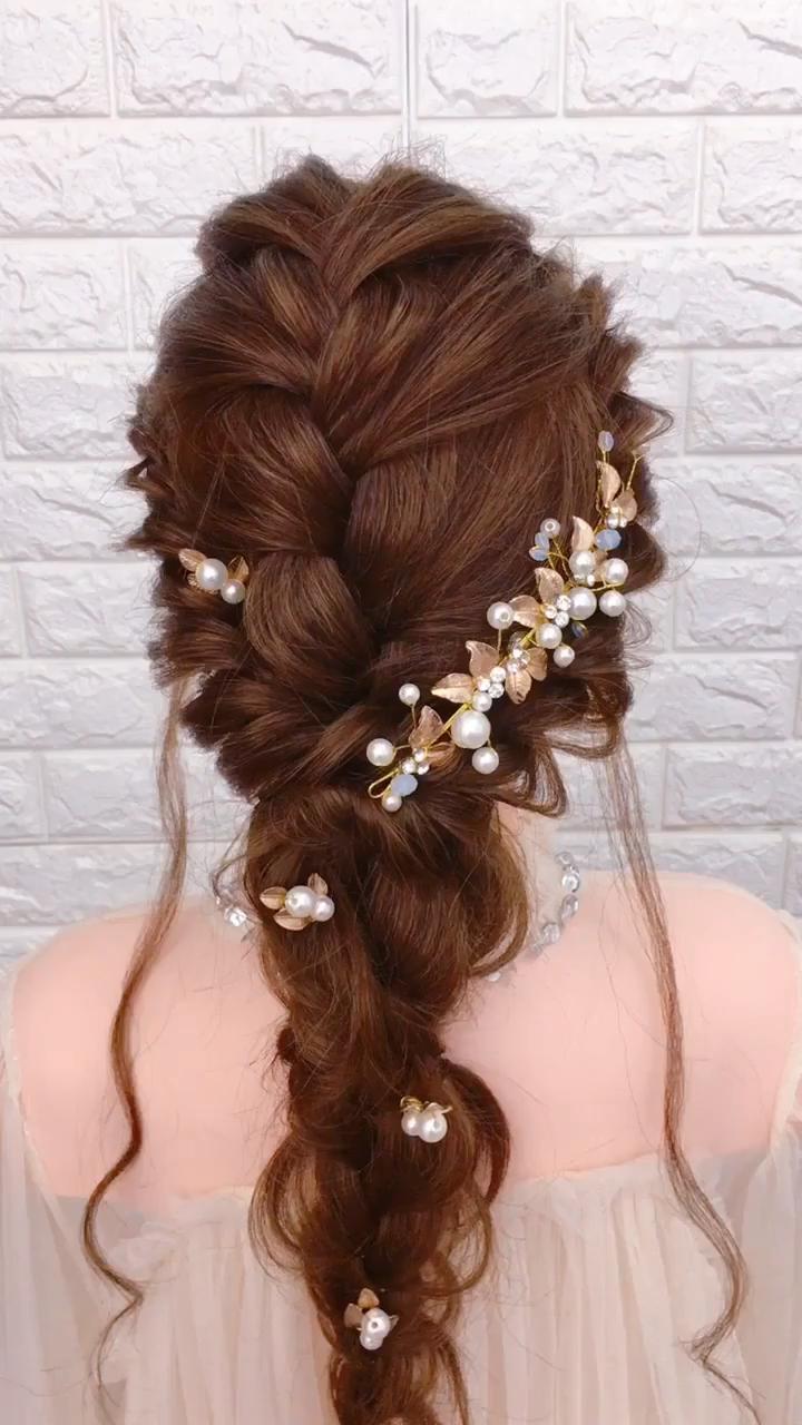 Bride Hair Design Idea Video In 2019 Noivas Dicasdenoivas Vestidosdenoivas Brides Hair Designs Wedding Hair Inspiration Glamorous Wedding Hair