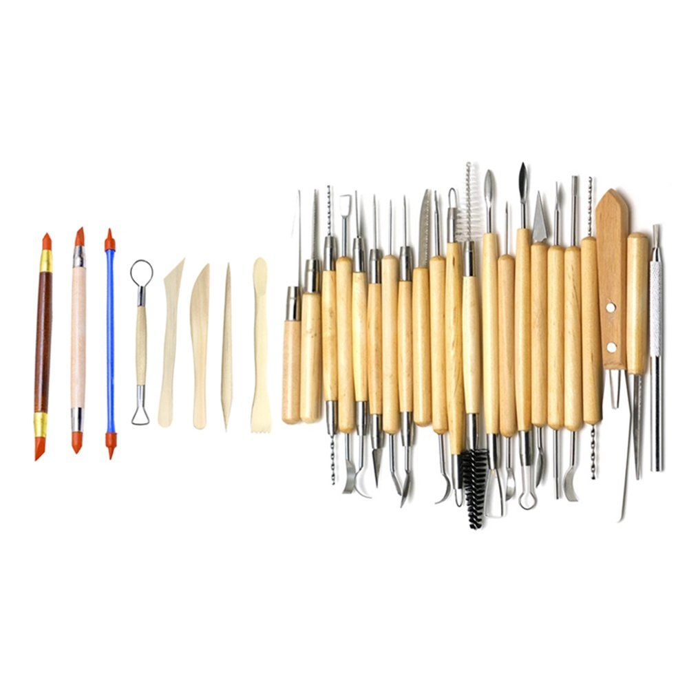 12 PCE WOOD CLAY WAX HAND CARVING CRAFT CHISEL TOOL HOBBY SET KIT UK WARRANTY