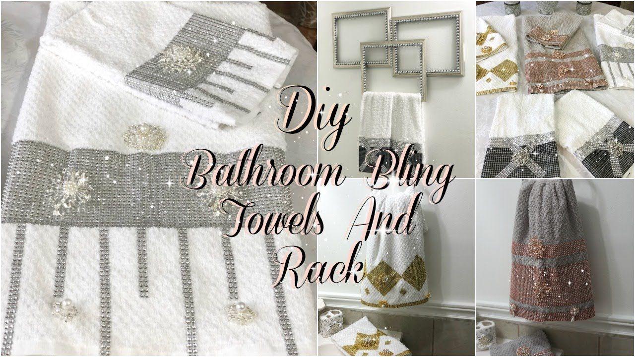 Bathroom Decor Ideas Diy Glam Decorative Towels Diy Dollar Tree Bathroom Towel Holder Youtube Diy Towels Diy Bathroom Decor Decorative Towels