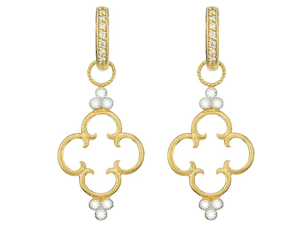 Jude Frances 18K Clover Diamond Earring Charms yRBLL8