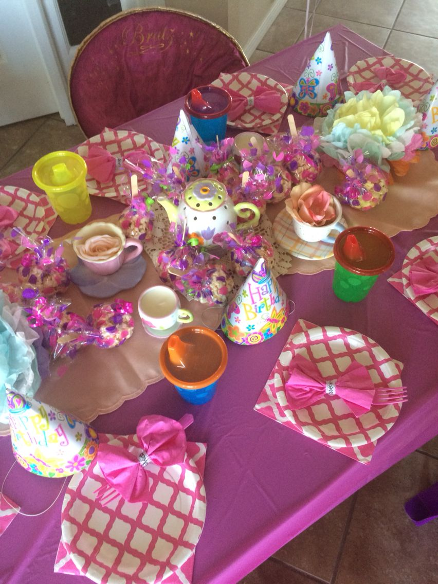 Tea for two birthday party for my 2yr old And 5yr old
