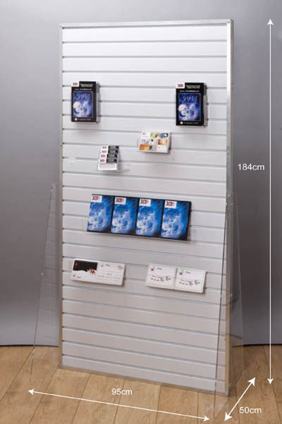 Exhibition Stand Panels : Slatwall panel freestanding exhibition display stand