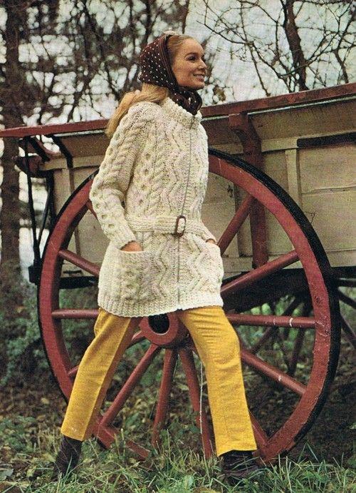 Long Slouchy Cardigan Knitting aran jacket Etsy heirloompatterns pdf patern: $3.20