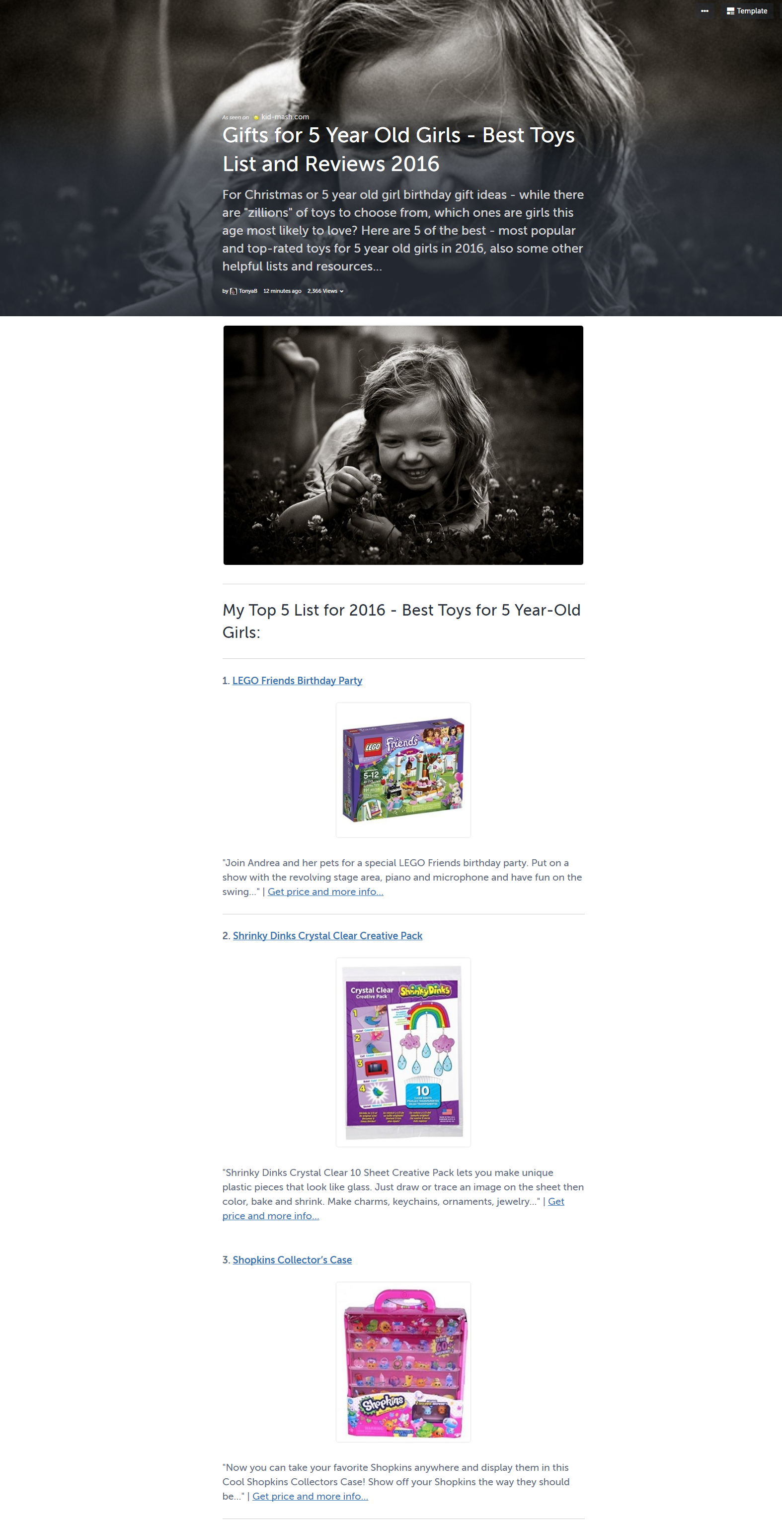Gifts For 5 Year Old Girls Best Toys List And Reviews 2016 Best