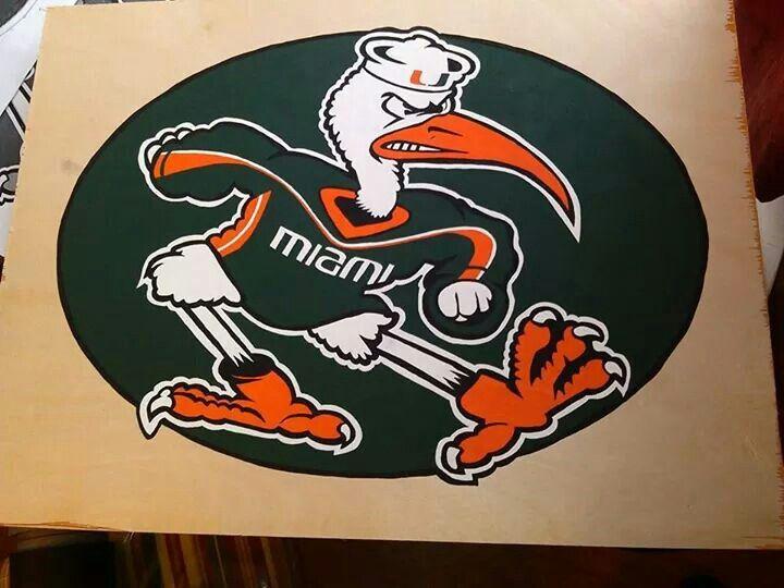 Miami Hurricanes, Sebastian mascot table unfinished.