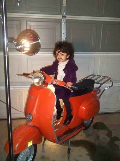 @Amanda Smith Prince on a scooter | 22 Amazing Kidsu0027 Halloween Costumes That They & Amanda Smith Prince on a scooter | 22 Amazing Kidsu0027 Halloween ...