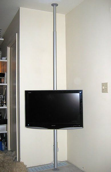 Ikea Hackers Hang Your Tv On A Pole Ideas In 2019