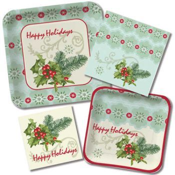 Holly Collage - Party at Lewis Elegant Party Supplies Plastic Dinnerware Paper Plates and  sc 1 st  Pinterest & Holly Collage - Party at Lewis Elegant Party Supplies Plastic ...