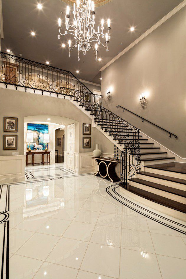15 Extremely Luxury Entry Hall Designs With Stairs  Alfie