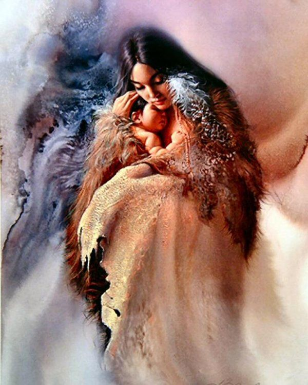 Beautiful Paintings of children | Beautiful Paintings of Mother and Child!!! | FunInStore.com #nativeamericanindians