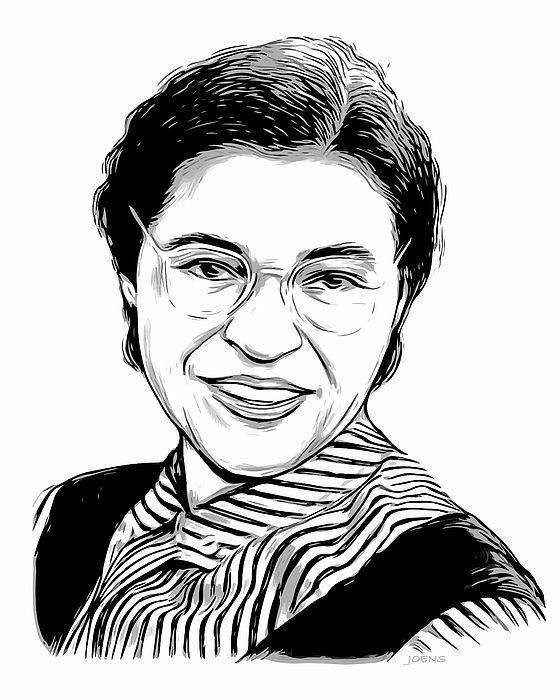 Portrait Of Us Civil Rights Leader Rosa Parks Celebrity Fan Rosa Parks Coloring
