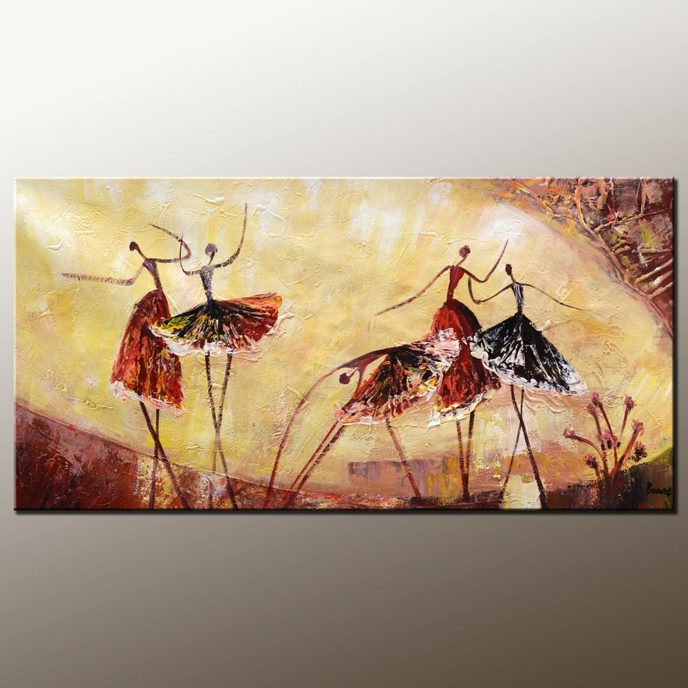Abstract Painting, Original Wall Art, Ballet Dancer Painting, Canvas ...