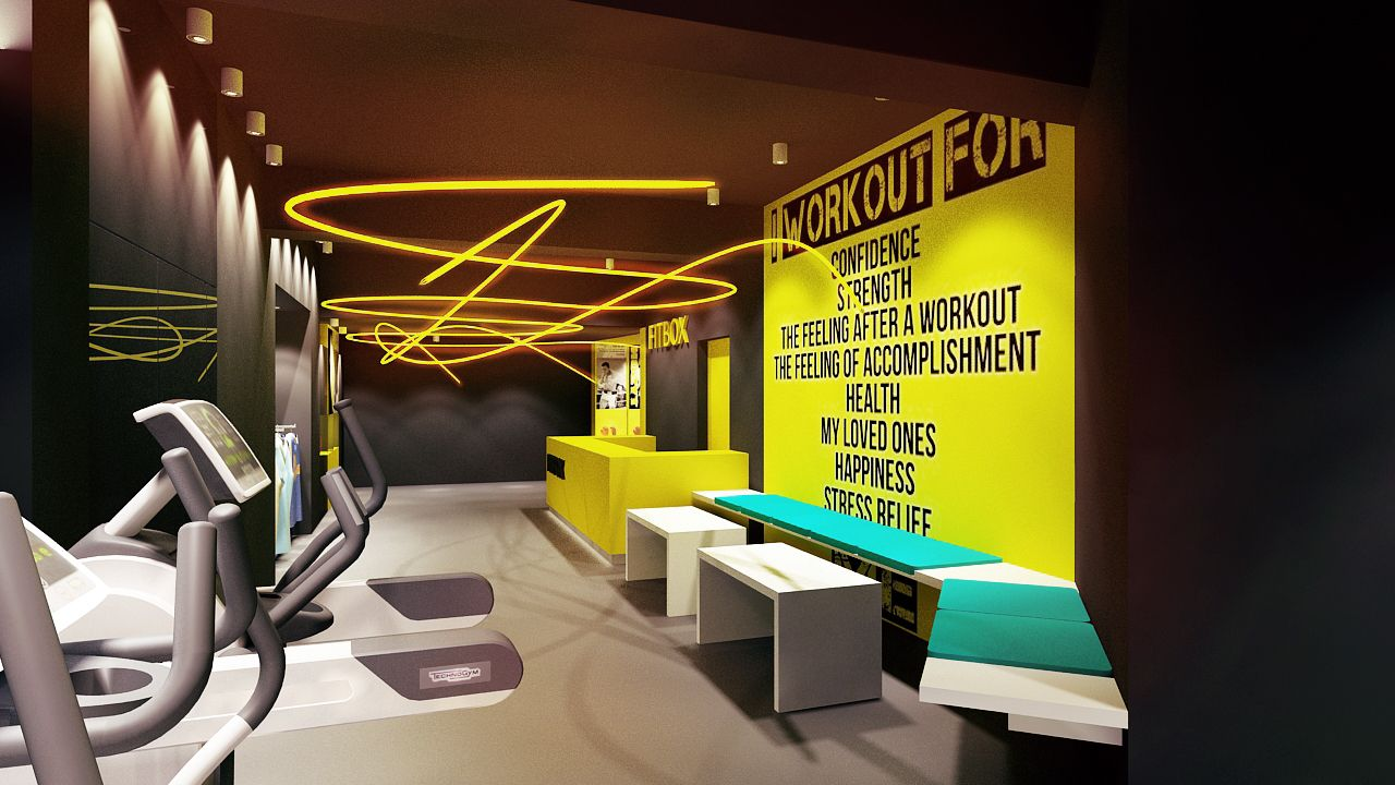 DESIGN BY l CUBE Architects Gym decor, Fitness center design