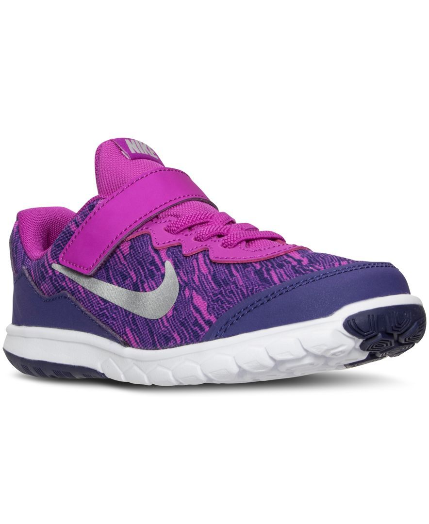 473c8f605e ... wholesale nike little girls flex experience 4 print running velcro  sneakers from finish line 22d8a 95a9b