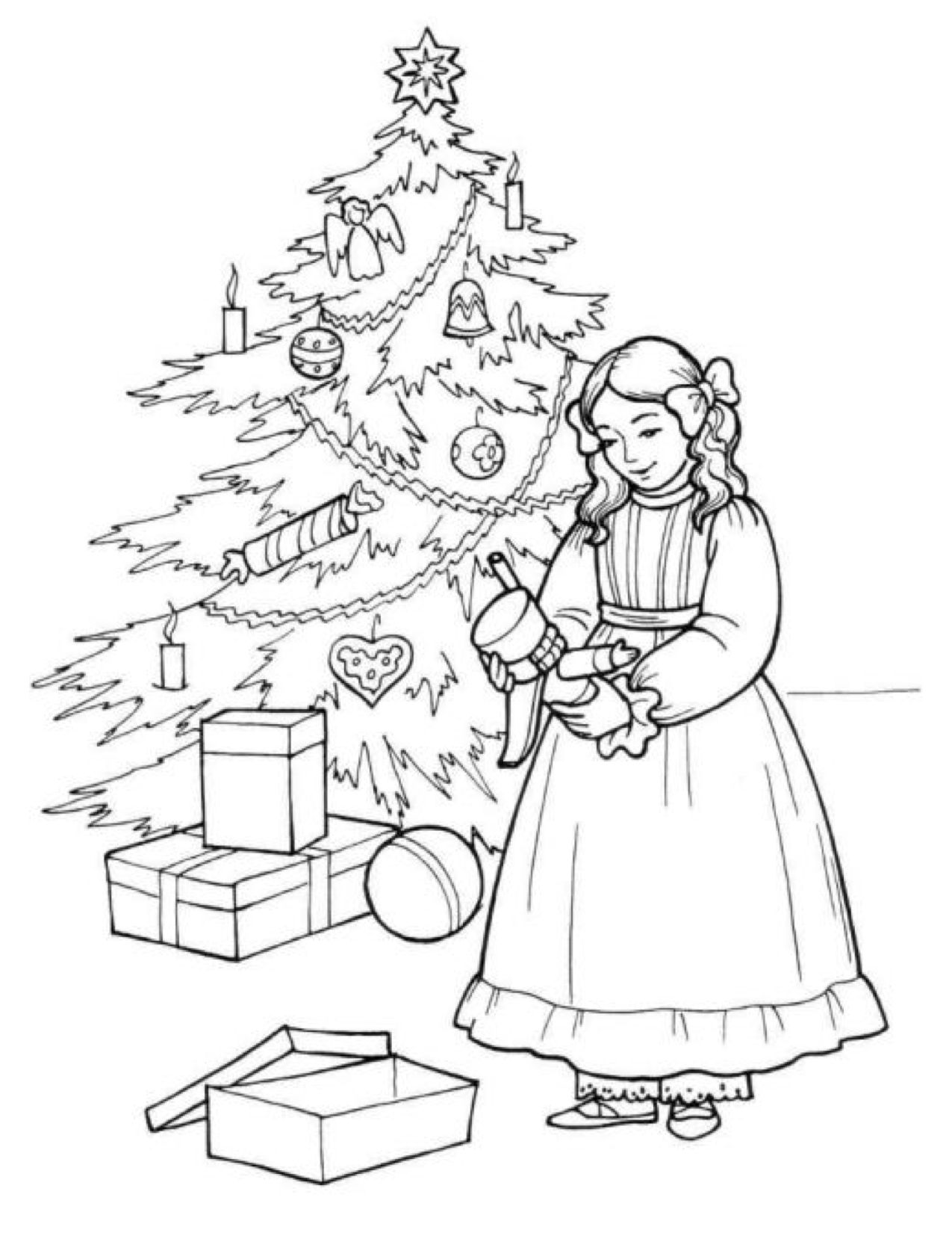 clara nutcracker coloring page